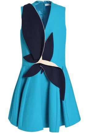 DELPOZO Appliquéd cotton-neoprene mini dress