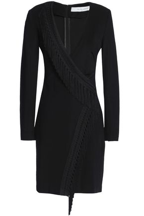 GALVAN  London Wrap-effect jersey mini dress
