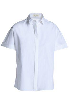 DELPOZO | Delpozo Woman Cotton-poplin Shirt White | Goxip