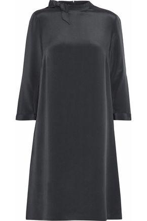 GOAT Bow-embellished silk crepe de chine mini dress