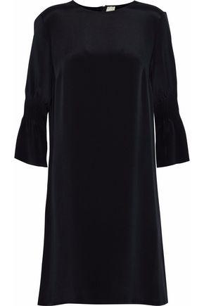 GOAT Faith shirred silk mini dress