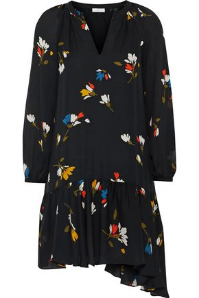 JOIE Agrafena floral-print silk-voile mini dress