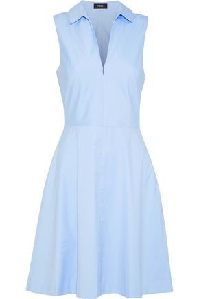 Stretch Cotton Poplin Dress by Theory