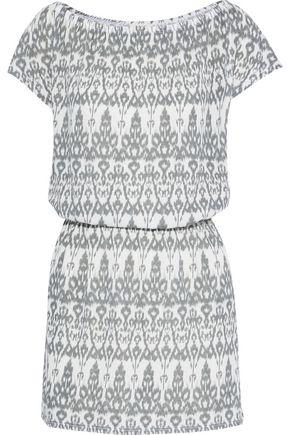 SOFT JOIE Danyale printed cotton-blend jersey mini dress