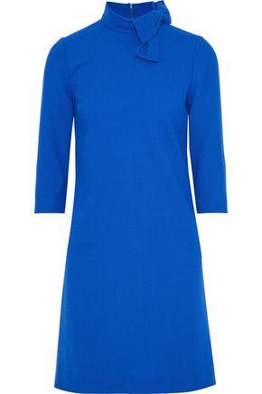 GOAT Bow-embellished wool-gauze mini dress