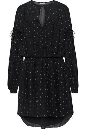 JOIE Academia printed silk-chiffon mini dress