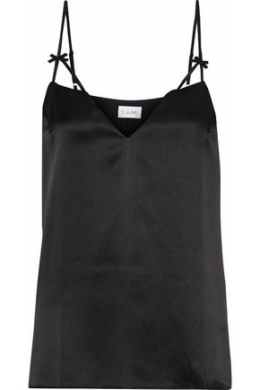 CAMI NYC The Lucy bow-embellished silk-charmeuse camisole
