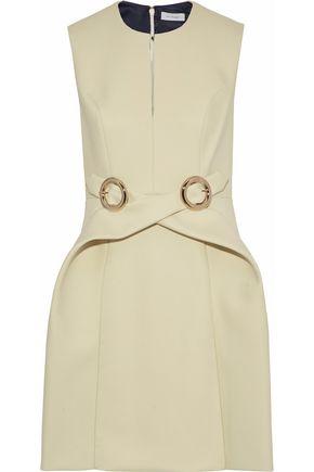 DELPOZO Buckle-embellished neoprene mini dress