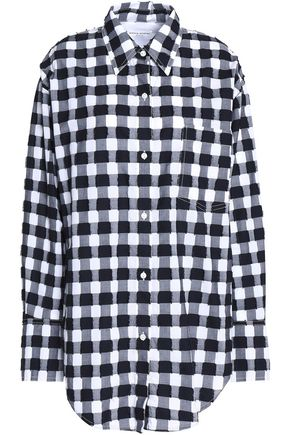 SONIA RYKIEL Gingham fil coupé cotton-poplin shirt