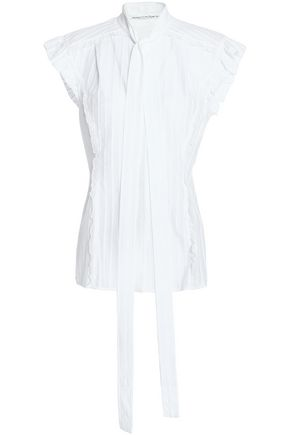 SONIA RYKIEL Ruffle-trimmed cotton-jacquard top