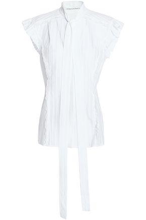 SONIA RYKIEL Ruffle-trimmed cotton-jacquard top