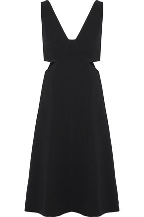 THEORY Cutout crepe dress