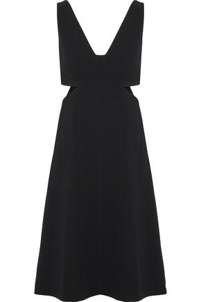 THEORY Cutout crepe dress