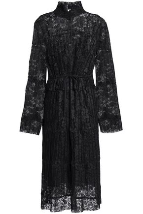 SEE BY CHLOÉ Pleated lace shirt dress