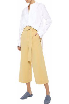 THEORY Paneled stretch-cotton poplin tunic
