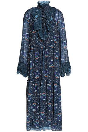 SEE BY CHLOÉ Printed ruffled crepe midi dress