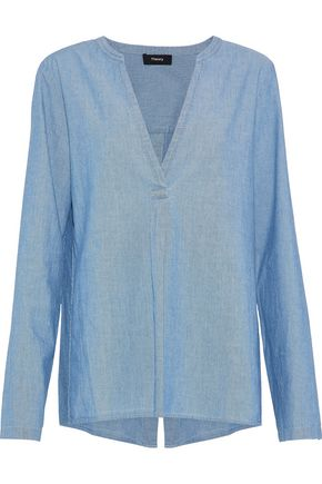 THEORY Ofeliah cotton-chambray tunic