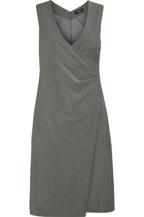 THEORY Karianna wrap-effect wool-blend dress