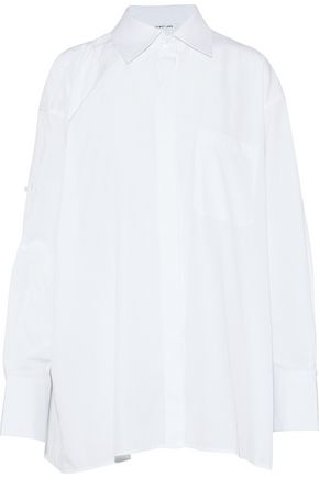 HELMUT LANG Oversized cotton-poplin shirt