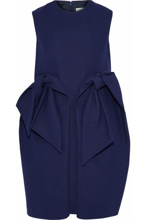 DELPOZO Bow-embellished cotton-canvas mini dress