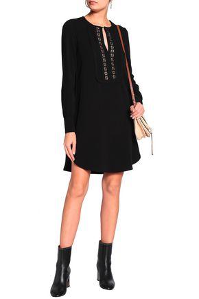 SEE BY CHLOÉ Crochet-trimmed twill mini dress