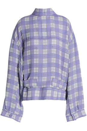 JOSEPH Royce checked canvas jacket