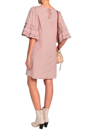 SEE BY CHLOÉ Ruffle-trimmed broderie anglaise cotton-poplin mini dress