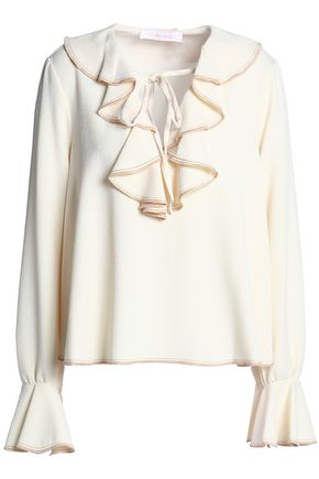 SEE BY CHLOÉ Ruffled crepe top