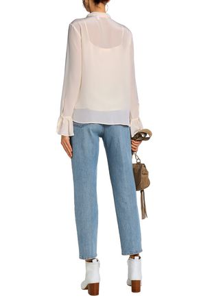 SEE BY CHLOÉ Bow-detailed silk crepe de chine blouse