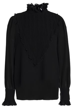 SEE BY CHLOÉ Crinkled-georgette blouse