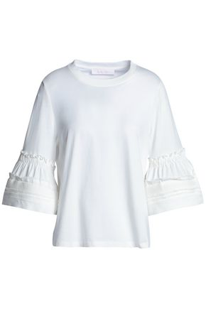 SEE BY CHLOÉ Fluted cotton-jersey top