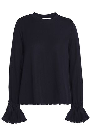 SEE BY CHLOÉ Crochet-trimmed crepe blouse