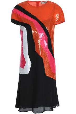 EMILIO PUCCI Sequined silk-georgette mini dress
