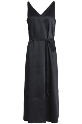 JOSEPH Satin-crepe midi dress