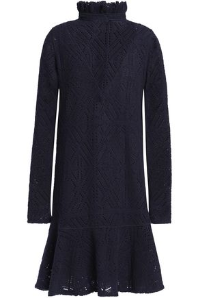 SEE BY CHLOÉ Fluted pointelle-knit mini dress
