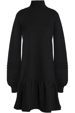 SEE BY CHLOÉ Fluted cotton and modal-blend turtleneck mini dress