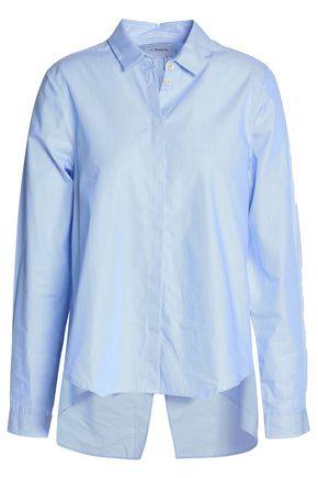 CHARLI Sally split-back striped cotton-poplin shirt