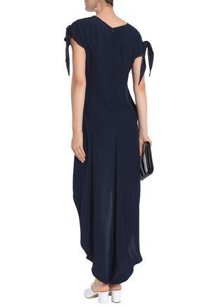 CHARLI Sanford asymmetric satin-crepe dress