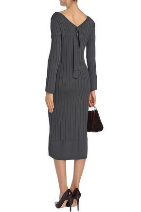 CHARLI Ribbed-knit midi dress