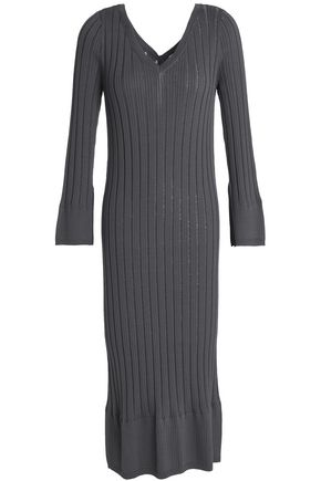 CHARLI Ribbed-knit midi dress