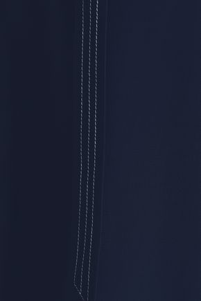 CHARLI Stella asymmetric tie-detailed crepe top