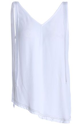 CHARLI Stella asymmetric tie-detailed crepe top