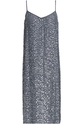 VELVET by GRAHAM & SPENCER Sequined woven dress
