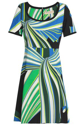 EMILIO PUCCI Printed crepe mini dress