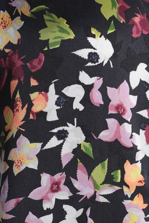 EQUIPMENT Essential printed washed-silk shirt