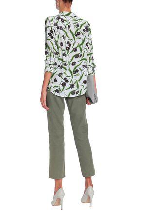 EQUIPMENT Adalyn floral-print washed-silk shirt