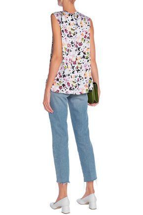EQUIPMENT Floral-print silk-satin top