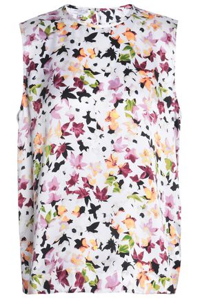 EQUIPMENT Floral-print silk-satin top