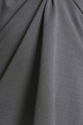 CHARLI Venoy ruffle-trimmed stretch-knit top
