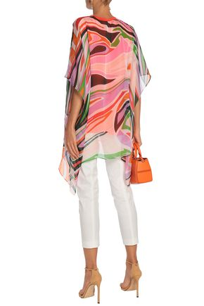 EMILIO PUCCI Layered printed silk and cotton top